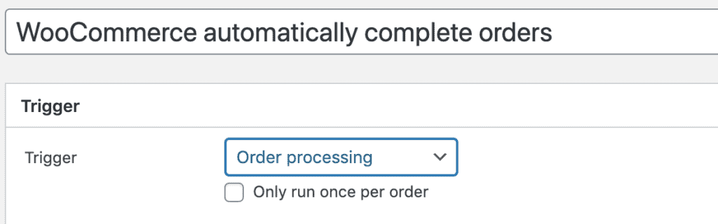 WooCommerce automatically complete orders