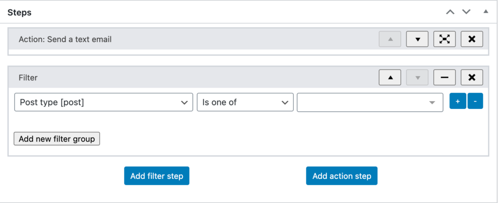 Steps in WunderAutomation 1.6